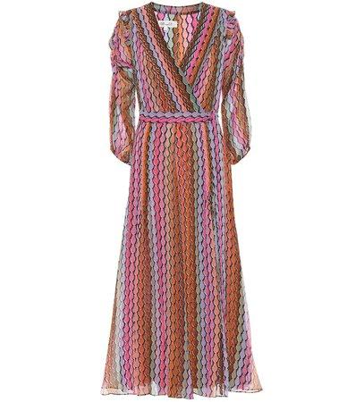 Bree Striped Silk Chiffon Wrap Dress - Diane von Furstenberg | Mytheresa