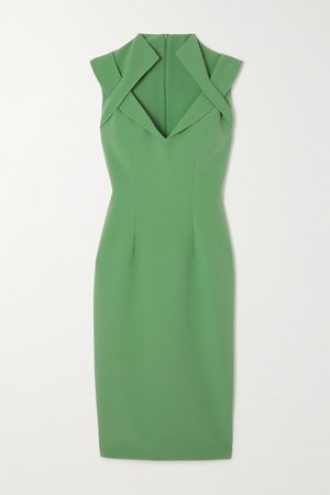 Green Loide crepe dress | Safiyaa | NET-A-PORTER