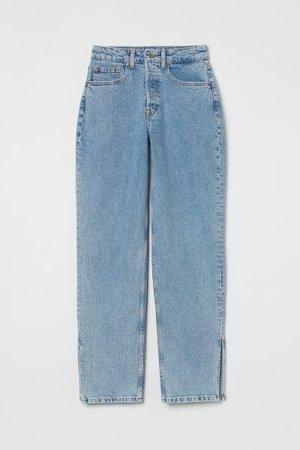Straight High Jeans - Blue - zara