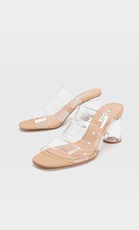 Vinyl high-heel sandals - Women's Just in | Stradivarius United States