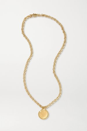 Gold + NET SUSTAIN Rosa gold-plated necklace | Laura Lombardi | NET-A-PORTER