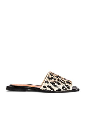 Ganni Slipper Sandal in Leopard   FWRD