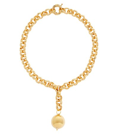 Timeless Pearly - 24kt gold-plated pendant necklace | Mytheresa