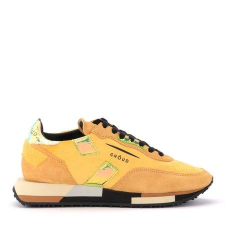 Ghoud Rush Sneaker In Suede And Mustard Velvet
