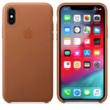 iPhone XS Leather Case - Saddle Brown - Apple