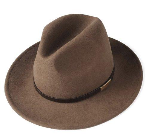 Men's Wool Felt Fedora w/ Belt