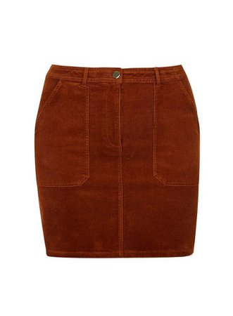Curve Burnt Orange Corduroy Pocket Mini Skirt | Dorothy Perkins