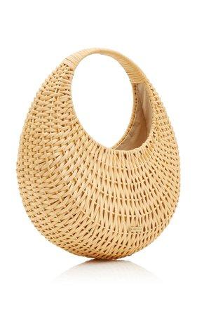 Taja Woven Rattan Top Handle Bag By Cult Gaia | Moda Operandi
