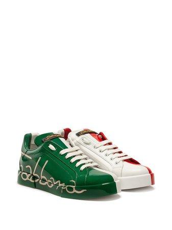 Dolce & Gabbana Italian Flag Portofino Sneakers - Farfetch