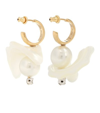 Mother-Of-Pearl Hoop Earrings - Simone Rocha | Mytheresa