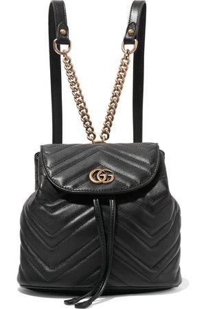 Gucci | Sac à dos en cuir matelassé GG Marmont | NET-A-PORTER.COM