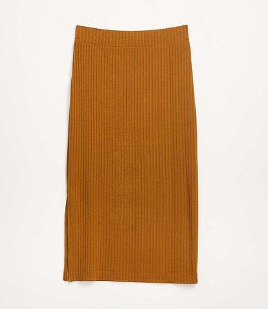 Ribbed Midi Skirt | Lou & Grey