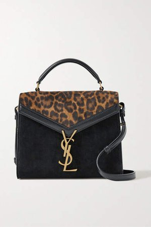 Cassandra Mini Leopard-print Suede And Leather Shoulder Bag - Leopard print