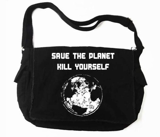 Destrukture Save The Planet Messenger Bag – Vampirefreaks Store