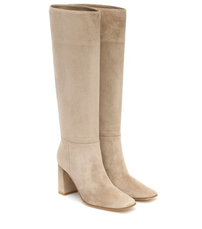 Gianvito Rossi - Hynde 85 suede knee-high boots | Mytheresa