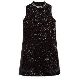 Guess - Black Sequin & Tulle Dress | Childrensalon