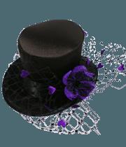 steampunk women hat with purple flower - Google Search