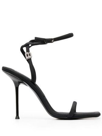 Alexander Wang embellished-charm sandals black 30221S009 - Farfetch