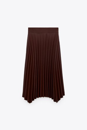 FAUX LEATHER PLEATED SKIRT | ZARA United States