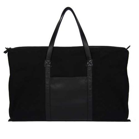 CANVAS SNAP DUFFLE BAG IN BLACK