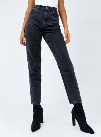 Zaiden Straight Leg Jeans Black Denim