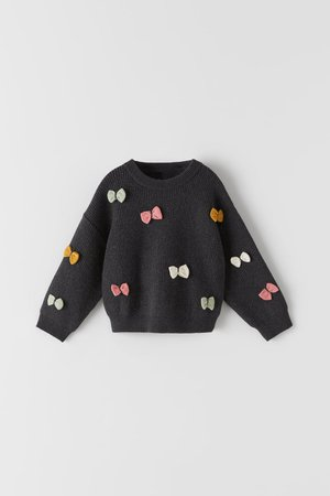 KNIT SWEATER WITH COLOURFUL BOWS | ZARA Spain