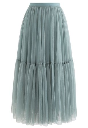 Can't Let Go Mesh Tulle Skirt in Turquoise - Retro, Indie and Unique Fashion