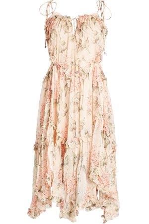 Printed Silk Chiffon Dress Gr. 1