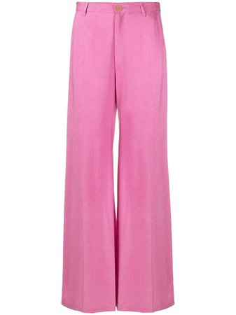 Shop pink Forte Forte wide-leg tailored trousers with Express Delivery - Farfetch