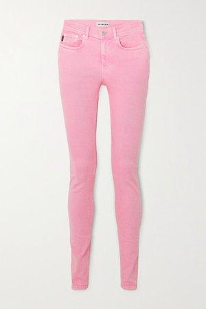 Balenciaga | Jean skinny taille mi-haute délavé | NET-A-PORTER.COM