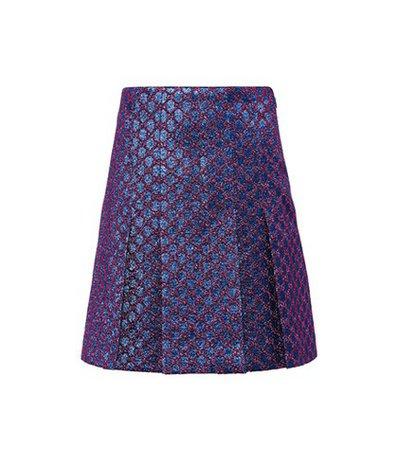 GG brocade pleated miniskirt