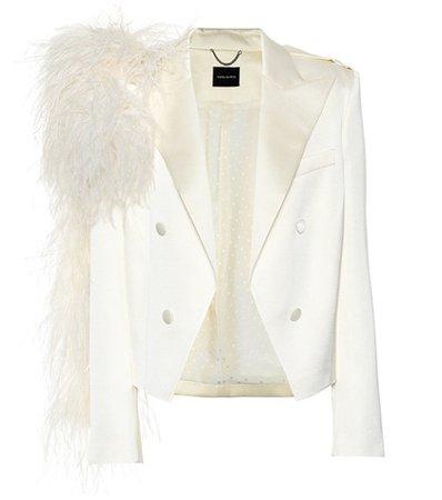 Lubeck feather-trimmed blazer