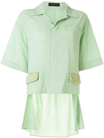 Embellished Flap Pocket Shirt