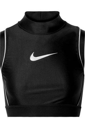 Nike | + AMBUSH NRG cropped printed stretch-jersey top | NET-A-PORTER.COM