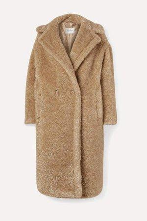 Teddy Icon Metallic Faux Fur Coat - Beige