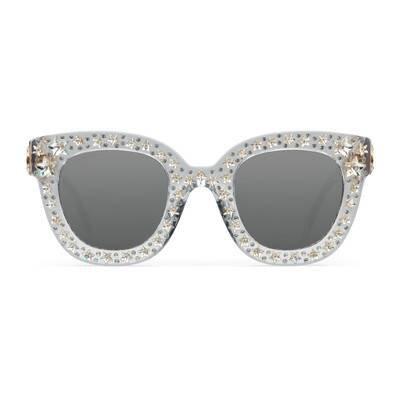 Cat eye acetate sunglasses with stars | GUCCI®