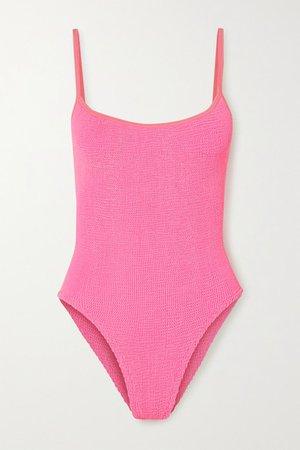 Net Sustain Pamela Seersucker Swimsuit - Bright pink