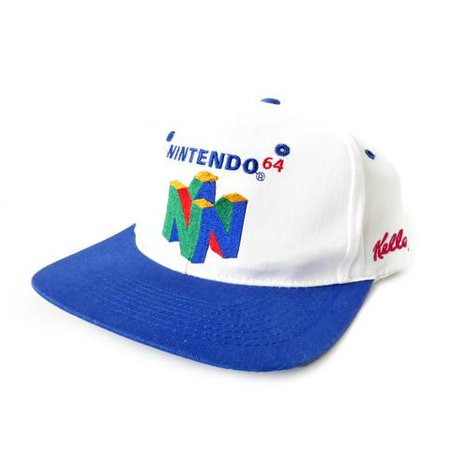 Vintage Nintendo Super Mario 64 Snapback Hat