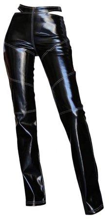 I. AM. GIA Black Leather Pants