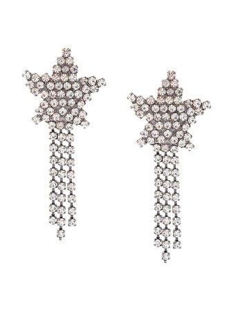 Metallic Jennifer Behr Star Fringed Earrings | Farfetch.com