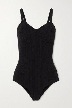 Net Sustain Goldwyn Seersucker Swimsuit - Black