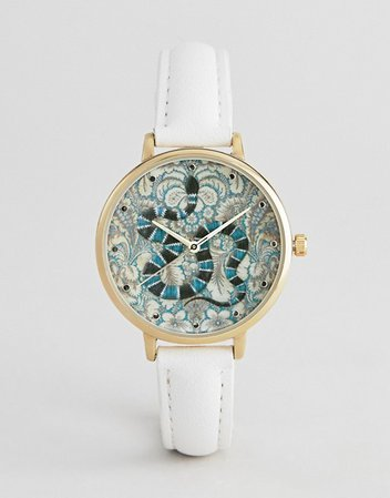 ASOS DESIGN Embroidered Baroque Snake Watch