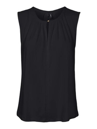 Milla sleeveless blouse | BLACK