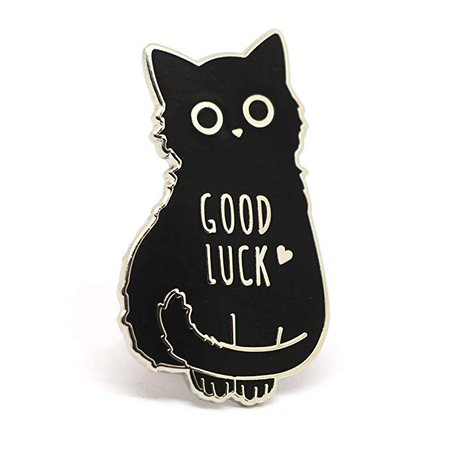 Black Cat Good Luck Enamel Pin