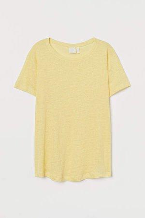 Linen T-shirt - Yellow