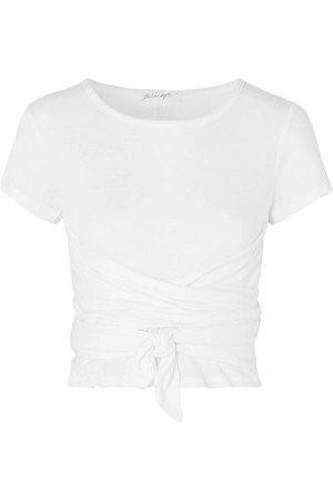 The Line By K   Jeanne knotted cotton-jersey T-shirt