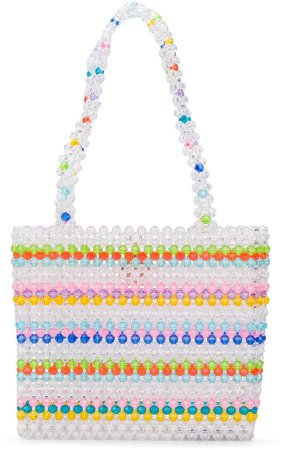 Merry beaded tote bag