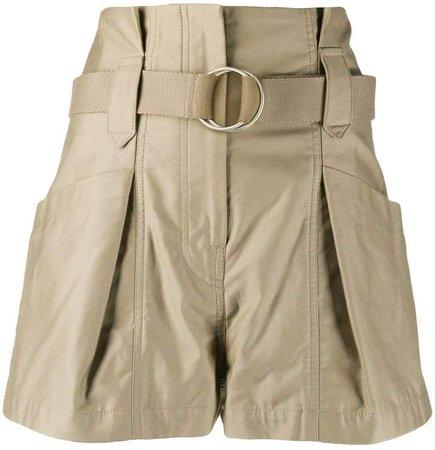 Bordina belted shorts