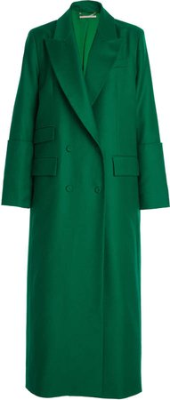 Emilia Wickstead Maxine Double-Breasted Wool Coat