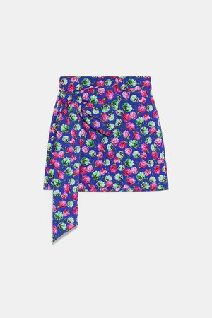 PRINTED SKIRT WITH BOW - View All-SKIRTS-WOMAN | ZARA United States